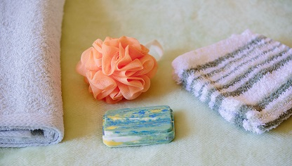 Image of soap and wash towel